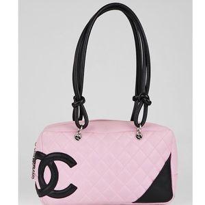 Coming soon Chanel cambon pink black bowler bag